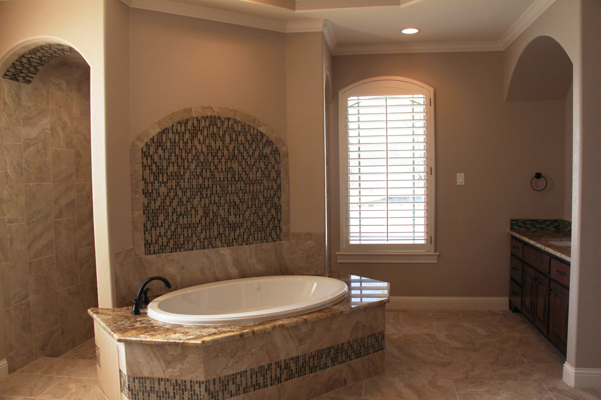 Master Bathroom with large jacuzzi tub