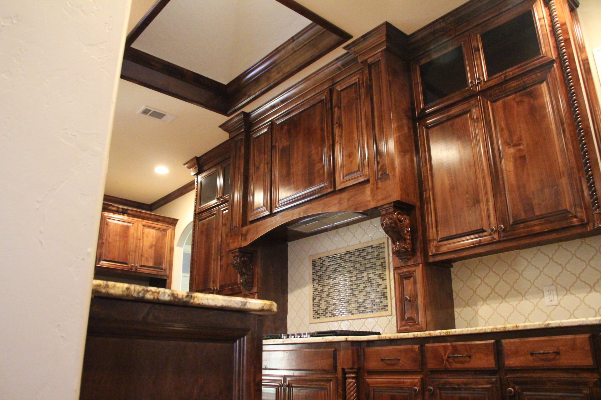 Kitchen Cabinets and Skylight