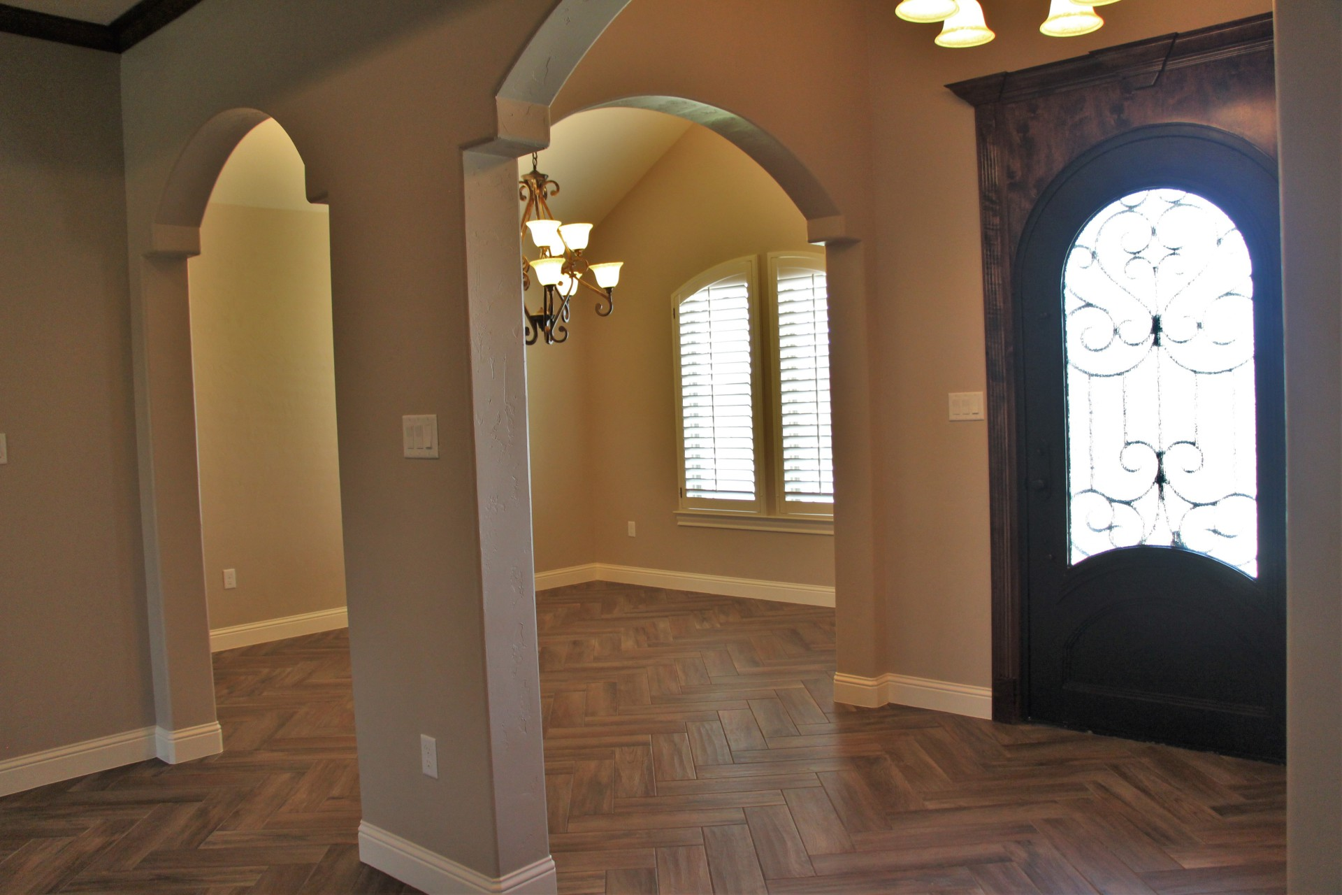Front Entry way and Dining area